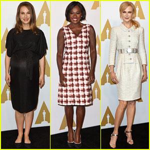 Natalie Portman, Viola Davis, & Nicole Kidman Celebrate Oscar Nominations at Luncheon 2017