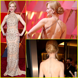 Nicole Kidman's Dress Straps Broke During the Oscars 2017