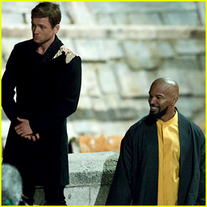 Taron Egerton & Jamie Foxx Film 'Robin Hood' Night Scenes in Croatia