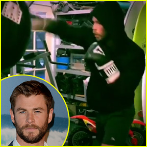 This Video is Just Chris Hemsworth Boxing for 54 Seconds!