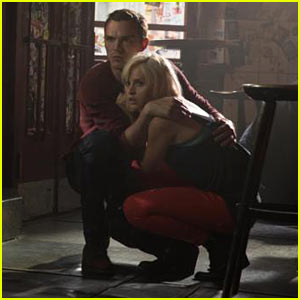 Nicholas Hoult & Felicity Jones Take Cover in New 'Collide' Stills