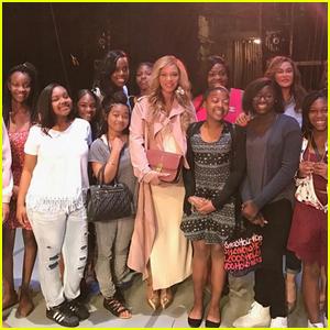 Beyonce Surprises Mom Tina's Mentorship Group (Video)