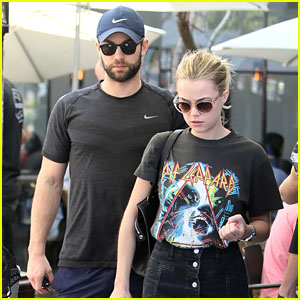 Chace Crawford & Girlfriend Rebecca Rittenhouse Grab a Casual Mid-Week Lunch