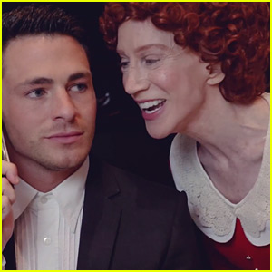 Colton Haynes is Daddy Warbucks in Kathy Griffin's 'Grannie' Spoof - Watch Now!