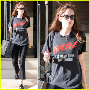Dakota Johnson Goes Vintage While Shopping in Beverly Hills