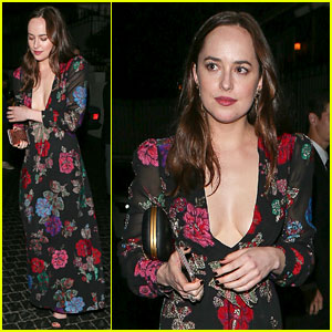 Dakota Johnson Goes Gucci for Elton John's Birthday Bash