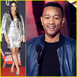 Demi Lovato & John Legend Present at iHeartRadio Music Awards 2017!