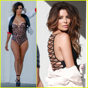 Eva Longoria Gets Sultry on Photo Shoot Set!