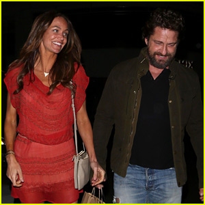 Gerard Butler Morgan Brown Are All Smiles On Date Night