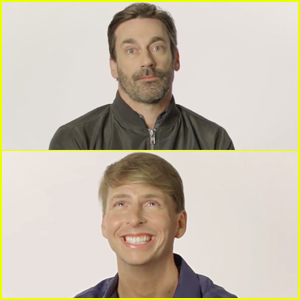 Jon Hamm & Jack McBrayer Share Their Secrets Before the Government Can Hack Them! (VIDEO)