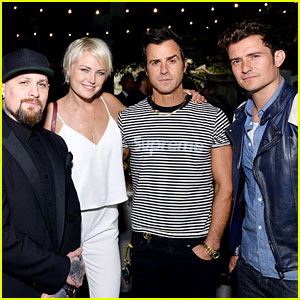 Justin Theroux & Orlando Bloom Support Their Friend's New Cannabis Brand