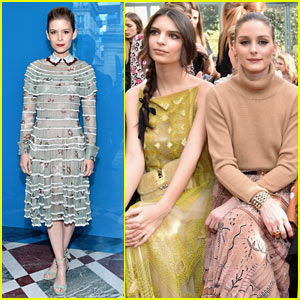 Kate Mara, Emily Ratajkowski, & Olivia Palermo Sit Front Row at 'Valentino' Fashion Show