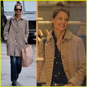 Katie Holmes Enjoys Afternoon Shopping Spree in NYC