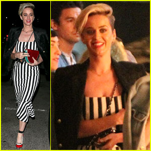 Katy Perry Looks Chic in Black & White for Girls' Night Out