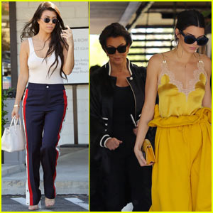 Kourtney Kardashian Grabs Lunch With Kris & Kendall Jenner