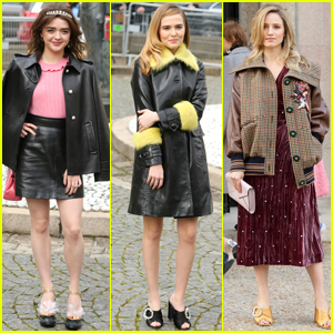Maisie Williams & Zoey Deutch Step Out at 'Miu Miu' Fashion Show