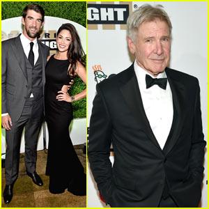 Michael Phelps & Wife Nicole Enjoy Date Night at Celeb Fight Night!