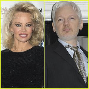 Pamela Anderson Opens Up About Julian Assange Romance Rumors