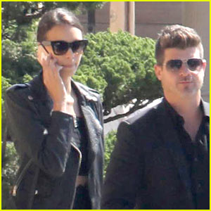 Robin Thicke & Girlfriend April Love Geary Grab Lunch After His 'Perfect' Birthday