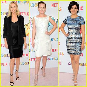 Charlize Theron, Britt Robertson, & Ellie Reed Channel Their Inner 'Girlboss' at Premiere
