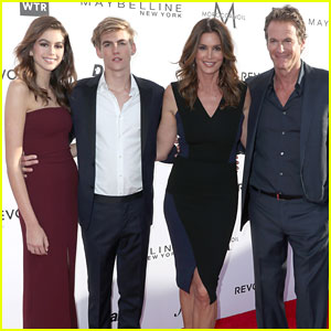 Cindy Crawford & Family Support Presley Gerber at Fashion Los Angeles Awards 2017