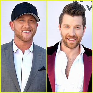 Cole Swindell & Brett Eldredge Step Out for ACMs 2017