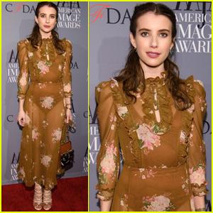 Emma Roberts Gets Fashionable at American Image Awards 2017