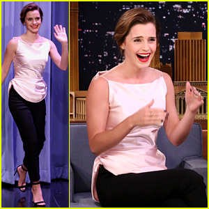 Emma Watson Awkwardly Confused Jimmy Fallon & Jimmy Kimmel - Watch Now!