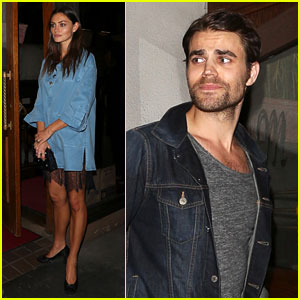 Exes Paul Wesley & Phoebe Tonkin Reunite for Dinner in WeHo