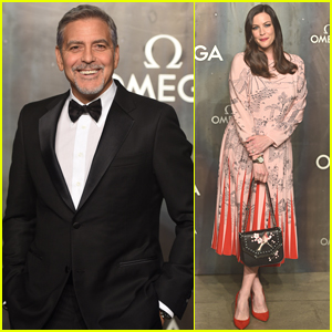 George Clooney Suits Up for 'Lost in Space' Party in London