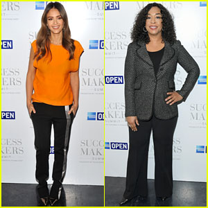 Jessica Alba & Shonda Rhimes Attend Success Makers Summit 2017