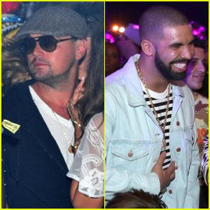 Leonardo DiCaprio & Drake Party at Coachella Neon Carnival