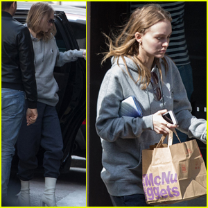 Lily-Rose Depp & Boyfriend Ash Stymest Arrive in Paris in Matching Outfits
