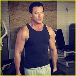 Luke Evans Posts a Hot Workout Video on Instagram
