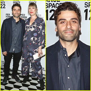 Oscar Isaac & Pregnant Girlfriend Elvira Lind Debut Baby Bump At PS 122 Gala!