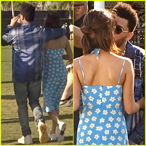 Selena Gomez & The Weeknd Share A Kiss & Fries on Day 2 of Coachella