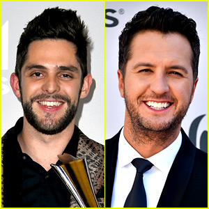 Thomas Rhett & Luke Bryan Strip Down for Post-ACMs Swim!
