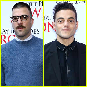 Zachary Quinto & Rami Malek Check Out 'The Play That Went Wrong' on Opening Night