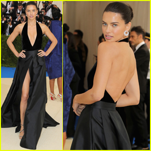 Adriana Lima Looks Stunning With a High Slit at Met Gala 2017