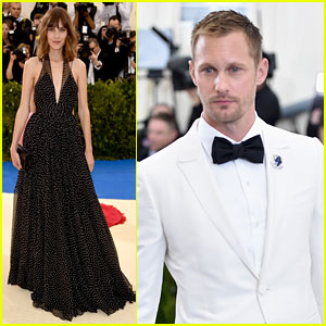 Alexander Skarsgard & Girlfriend Alexa Chung Hit Met Gala 2017 Red Carpet in Black & White