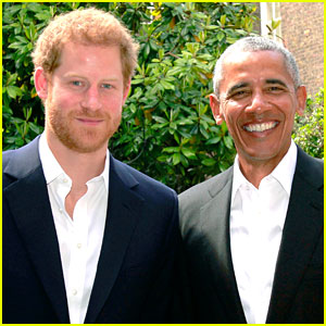 Barack Obama Visits Prince Harry at Kensington Palace