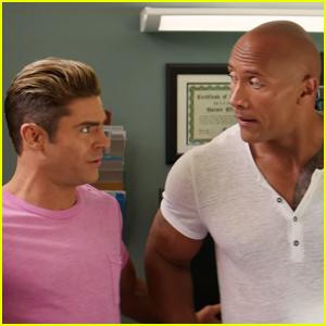 Zac Efron & Dwayne Johnson Kiss in 'Baywatch' Red Band Trailer - Watch Now!