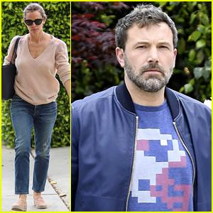Jennifer Garner & Ben Affleck Reunite for Church with Their Kids