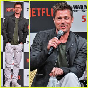 Brad Pitt Brings 'War Machine' Press Tour To Tokyo!