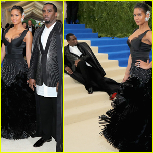 Cassie Takes the Spotlight While Diddy Lounges on the Met Gala Steps