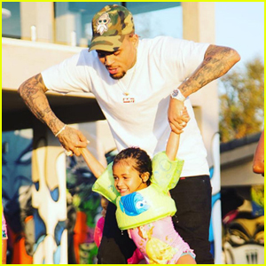 Chris Brown Celebrates Daughter Royalty's Third Birthday With Pool Party