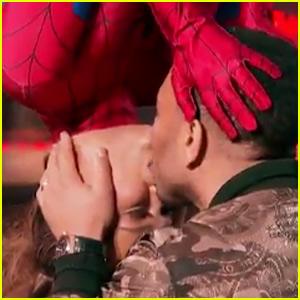Chrissy Teigen Recreates Spider-Man Upside-Down Kiss with John Legend - Watch Now!