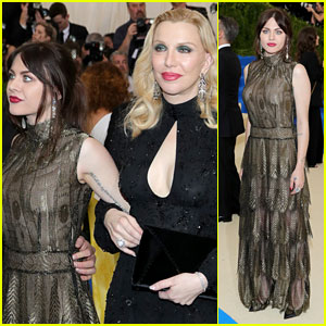Courtney Love & Daughter Frances Bean Cobain Are Twinning in Marc Jacobs at Met Gala 2017