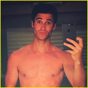 Darren Criss Strips Down on 'Versace' Set in Hot New Photo!
