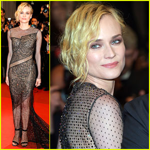 Diane Kruger Wears a Sheer Gown for Cannes Film Premiere